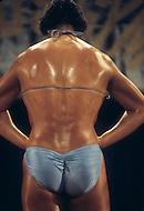 Los Angeles, 1980. Contestant at California Women's Bodybuilding Championship.