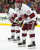 Michael Floodstrand (Harvard - 44), John Marino (Harvard - 12) - The Harvard University Crimson defeated the St. Lawrence University Saints 6-3 (EN) to clinch the ECAC playoffs first seed and a share in the regular season championship on senior night, Saturday, February 25, 2017, at Bright-Landry Hockey Center in Boston, Massachusetts.
