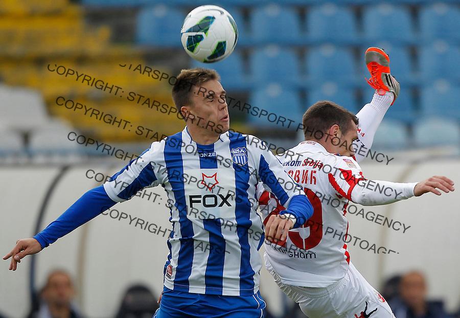 Fudbal Super liga season 2012-2013.OFK Beograd v Crvena Zvezda .Milan Rodic left and Marko Vesovic.Beograd, 11.11.2012..foto: Srdjan Stevanovic/Starsportphoto ©