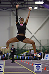 11 MAR 2011: Skye Morrison of Wartburg College long jumps during the Division III Men's and Women's Indoor Track and Field Championships held at the Capital Center Fieldhouse on the Capital University campus in Columbus, OH.  Jay LaPrete/NCAA Photos