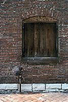 St Louis: Soulard Neighborhood--boarded window. Photo '77.