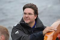ZEILSPORT: TERHERNE: 12-06-2013, Leeuwarder Skûtsje training, Siete Meeter, ©foto Martin de Jong