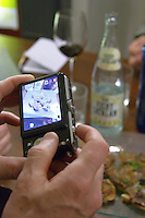 taking a photo of tapas Restaurant La Garrocha Valladolid spain castile and leon