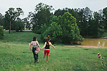 Amber, Julia and Lucas in Palmetto, Georgia.