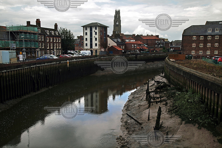 The River Witham in the town centre with St Botolph's Church rising on the horizon. <br /> The town of Boston had the country's highest proportion of 'leave' votes cast in the EU referendum with almost 76 percent of ballots cast for Brexit. Lincolnshire has, in recent years, seen an influx of EU workers drawn to the area's agricultural industry. The 2011 census found about 13 percent of Boston's residents were born in Eastern Europe and migrated to the UK since 2004.