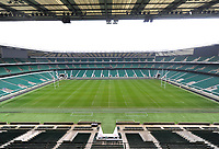 """A general view of Twickenham Stadium. Bath Rugby Photocall for """"The Clash"""" on March 16, 2017 at Twickenham Stadium in London, England. Photo by: Patrick Khachfe / Onside Images"""