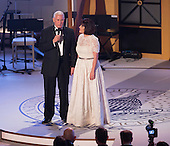 Vice President -elect of The United States Mike Pence speaks alongside his wife Karen Pence at a &quot;Candlelight&quot; dinner to thank donors in Washington, DC, January 19, 2017. <br /> Credit: Chris Kleponis / Pool via CNP