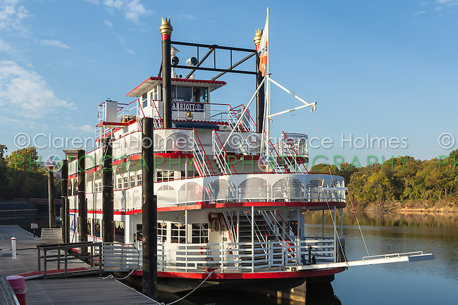 The Harriott II Riverboat anchored in Riverfront Park in Montgomery, Alabama.