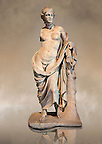 Greek marble Statue of Hermaphroditius ( Hermaphrodites) a mythical being that has both male &amp; female characteristics. From Pergamum (Bergama) Turkey. Istanbul Archaeology Museum, Inv 363T Cat. Mendel 624.