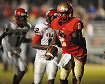 Lafayette High's D.K. Buford (2) scores vs. Shannon in Oxford, Miss. on Friday, September 14, 2012. Lafayette won 44-25 over Shannon to improve to 4-1.