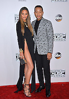 LOS ANGELES, CA. November 20, 2016: Model Chrissy Teigen &amp; husband singer/songwriter John Legend at the 2016 American Music Awards at the Microsoft Theatre, LA Live.<br /> Picture: Paul Smith/Featureflash/SilverHub 0208 004 5359/ 07711 972644 Editors@silverhubmedia.com