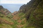 Honopu Valley on the Na Pali Coast, Kauai, Hawaii