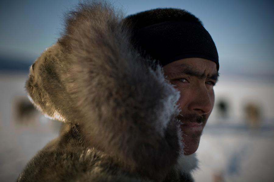 Inuit hunter Gedion Kristiansen. A changing climate - which shows itself in warming temperatures, earlier summers, later winters, and shrinking and thinning sea ice - threatens the livelihoods and traditions of some of the last subsistence hunters on Earth, the Polar Inuit communities of far Northwest Greenland.