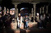 Local Nepalese seen enjoying the weekend in Patan Darbar in Patan in capital Kathmandu, Nepal