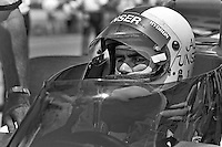 INDIANAPOLIS, IN - MAY 29: Al Unser waits to drive his Parnelli VPJ6B 001/Cosworth TC during practice for the Indianapolis 500 at the Indianapolis Motor Speedway in Indianapolis, Indiana, on May 29, 1977.