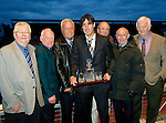 Blues Boys St Johnstone Supporters Club Player of the Year Award to Fran Sandaza presented by Jimmy Robertson..Picture by Graeme Hart..Copyright Perthshire Picture Agency.Tel: 01738 623350  Mobile: 07990 594431
