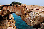 Natural bridge Kamara Tou Koraka, Cape Gkreko, Cyprus.