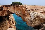 Natural bridge Kamara Tou Koraka, Cape Gkreko, Cyprus.