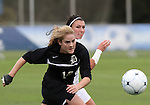 03 November 2010:  Duke's Nicole Lipp (10) and Maryland's Ashley Grove (right). The Maryland Terrapins defeated the Duke Blue Devils 1-0 in an ACC Women's Soccer Tournament quarterfinal game at Koka Booth Stadium at WakeMed Soccer Park in Cary, NC.