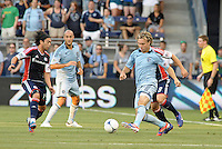 Michael Harrington (2) defender Sporting KC in action..Sporting Kansas City and New England Revolution played to a 0-0 tie at LIVESTRONG Sporting Park, Kansas City, KS.