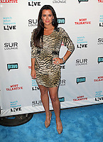 Kyle Richards.Bravo's Andy Cohen's Book Release Party For &quot;Most Talkative: Stories From The Front Lines Of Pop Held at SUR Lounge, West Hollywood, California, USA..May 14th, 2012.full length black  dress tiger animal print dress hand on hip beige .CAP/ADM/KB.&copy;Kevan Brooks/AdMedia/Capital Pictures.