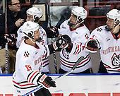Brodie Reid (Northeastern - 15) - The Northeastern University Huskies defeated the visiting Boston College Eagles 2-1 on Saturday, February 19, 2011, at Matthews Arena in Boston, Massachusetts.
