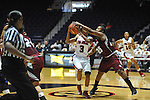 "Ole Miss' Valencia McFarland (3) is fouled by UMass' Dee Montgomery (25) at the C.M. ""Tad"" Smith Coliseum in Oxford, Miss. on Saturday, December 8, 2012."