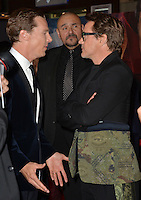 LOS ANGELES, CA. October 20, 2016: Benedict Cumberbatch &amp; Robert Downey Jr. at the world premiere of Marvel Studios' &quot;Doctor Strange&quot; at the El Capitan Theatre, Hollywood.<br /> Picture: Paul Smith/Featureflash/SilverHub 0208 004 5359/ 07711 972644 Editors@silverhubmedia.com