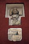 Maya glyph and personage sculpture,  Copan Sculpture Museum, Copan Honduras