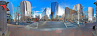 A panoramic view of Tryon Street in downtown Charlotte, NC, Friday, DEcember 13, 2013.  (Photo by Brian Cleary/ www.bcpix.com )