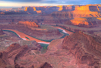 Orange Colorado River at Dead Horse Point, Dead Horse Point State Park, Utah  Colored water from red soil runoff