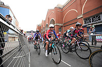 Picture by Alex Whitehead/SWpix.com 11/05/2017 - Cycling - Tour Series Round 2 - Matrix Fitness Womens Race Stoke, Stoke-on-Trent, England - The womens race gets under way.