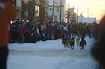 Photographs of John Baker's 2011 Iditarod run. Nome. Stephen Nowers/Alaska Dispatch.