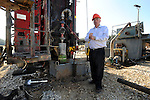 Harold Vinegar, Chief Scientist of Israel Energy Initiatives (IEI), at the company's drilling site extracting shale oil, at Lachish region, Israel.