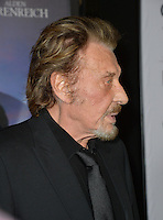 LOS ANGELES, CA. November 10, 2016: French actor/singer Johnny Hallyday at World Premiere of &quot;Rules Don't Apply&quot;, part of the AFI Fest 2016, at the TCL Chinese Theatre, Hollywood.<br /> Picture: Paul Smith/Featureflash/SilverHub 0208 004 5359/ 07711 972644 Editors@silverhubmedia.com