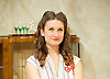 The Roundabout <br /> by JB Priestley <br /> directed by Hugh Ross<br /> at Park Theatre, London, Great Britain <br /> 24th August 2016 <br /> Press photocall <br /> <br /> <br /> Bessie Carter as Pamela Kettlewell <br /> <br /> <br /> <br /> <br /> Photograph by Elliott Franks <br /> Image licensed to Elliott Franks Photography Services