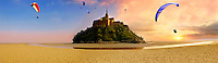 Mont Saint-Michel - Panorama at low tide - Brittany - France