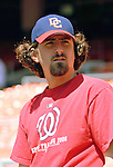 15 June 2006: Gary Majewski, pitcher for the Washington Nationals, stands outside the dugout prior to a game against the Colorado Rockies at RFK Stadium, in Washington, DC. The Rockies defeated the Nationals, 8-1 to sweep the four-game series...Mandatory Photo Credit: Ed Wolfstein Photo...