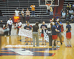 "Ole Miss vs. Tennessee at C.M. ""Tad"" Smith Coliseum in Oxford, Miss. on Thursday, February 24, 2011.  Tennessee won 66-39 with 5:24 remaining after officials ended the game due to a wet court.."