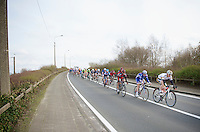 peloton trying to catch the 10 men in front with about 30 km's to go, but the minute gap will not shrink<br /> <br /> Kuurne-Brussel-Kuurne 2014