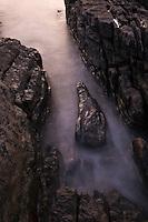 Ocean tide washing among rocks, Elgol, Isle of Skye, Scotland