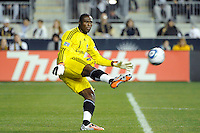 Los Angeles Galaxy goalkeeper Donovan Ricketts (1). The Los Angeles Galaxy defeated the Philadelphia Union  1-0 during a Major League Soccer (MLS) match at PPL Park in Chester, PA, on October 07, 2010.