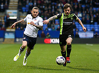 Bury's Andrew Tutte holds off the challenge from Bolton Wanderers' Jay Spearing<br /> <br /> Photographer Alex Dodd/CameraSport<br /> <br /> The EFL Sky Bet League One - Bolton Wanderers v Bury - Tuesday 18th April 2017 - Macron Stadium - Bolton<br /> <br /> World Copyright &copy; 2017 CameraSport. All rights reserved. 43 Linden Ave. Countesthorpe. Leicester. England. LE8 5PG - Tel: +44 (0) 116 277 4147 - admin@camerasport.com - www.camerasport.com