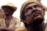Gold seekers, worker portrait, Para State, Amazon rain forest, Brazil.