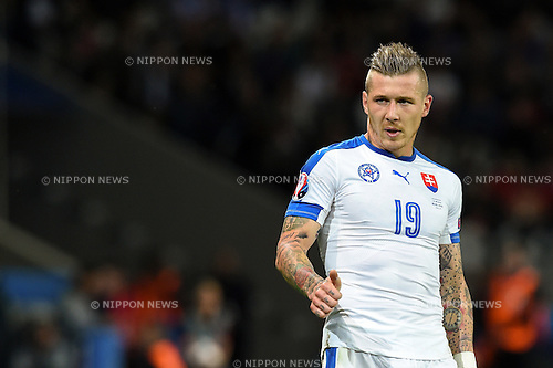 Juraj Kucka (Slovakia) ; <br /> June 15, 2016 - Football : Uefa Euro France 2016, Group B, Russia 1-2 Slovakia at Stade Pierre Mauroy, Lille Metropole, France. (Photo by aicfoto/AFLO)