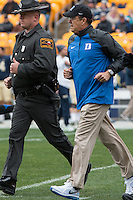 Duke head football coach David Cutcliffe. The Duke Blue Devils defeated the Pitt Panthers 51-48 at Heinz Field, Pittsburgh Pennsylvania on November 1, 2014.