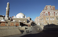 Mosque in the Wadi Sailah area of Sana'a.