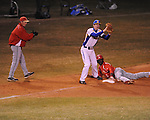 Oxford High vs. Lafayette High's D.K. Buford (3) is safe with a stolen base in Oxford, Miss. on Thursday, March 14, 2013. Oxford won 19-9.