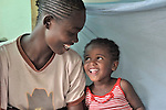 Two girls in the Mary Morris Orphanage, run by the United Methodist Church in Kamina, Democratic Republic of the Congo.
