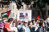 Roma 14 Maggio 2011.Manifestazione nazionale contro l'assedio a Gaza, per la libertà della Palestina, in sostegno alla Freedom Flotilla.